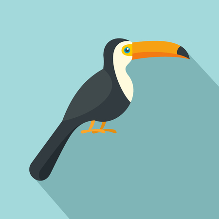 Toucan icon. Flat illustration of toucan vector icon for web design