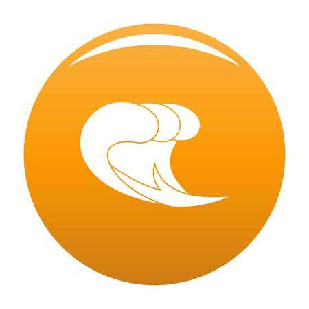 Wave surf icon. Simple illustration of wave surf vector icon for any design orange Illustration