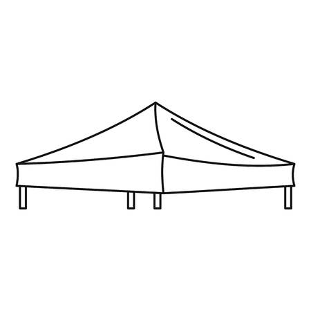Tent icon. Outline illustration of tent vector icon for web design isolated on white background