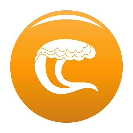 Wave water sea icon. Simple illustration of wave water sea vector icon for any design orange