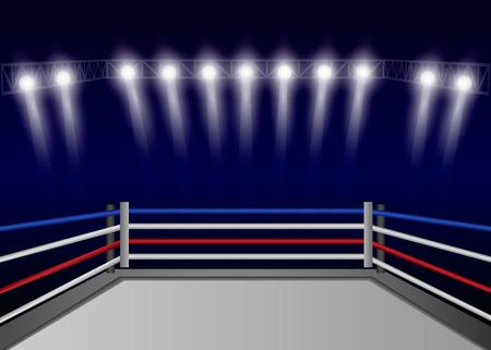 Fond de concept de ring de boxe. Illustration réaliste de l'arrière-plan du concept de vecteur de ring de boxe pour la conception web