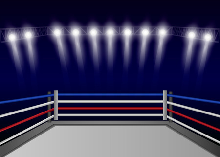 Boxing ring concept background. Realistic illustration of boxing ring vector concept background for web design