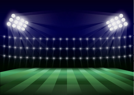 Soccer field concept background. Realistic illustration of soccer field vector concept background for web design Ilustrace