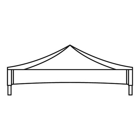 Folding tent icon. Outline illustration of folding tent vector icon for web design isolated on white background