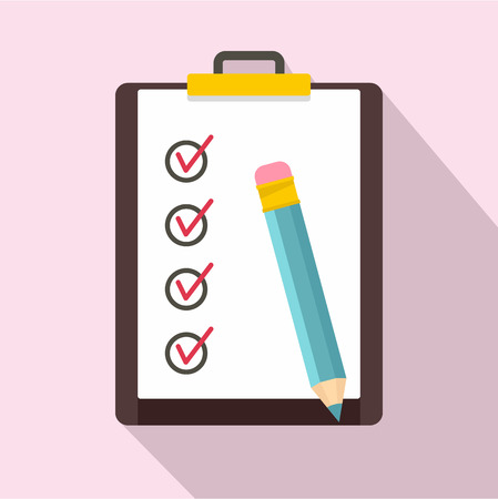 To do list icon. Flat illustration of to do list vector icon for web design Reklamní fotografie - 114963654