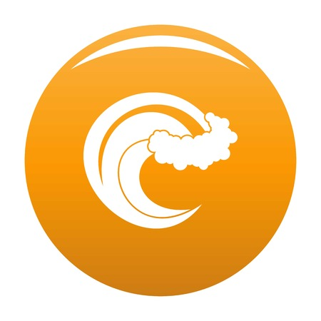 Wave storm icon. Simple illustration of wave storm vector icon for any design orange Illustration