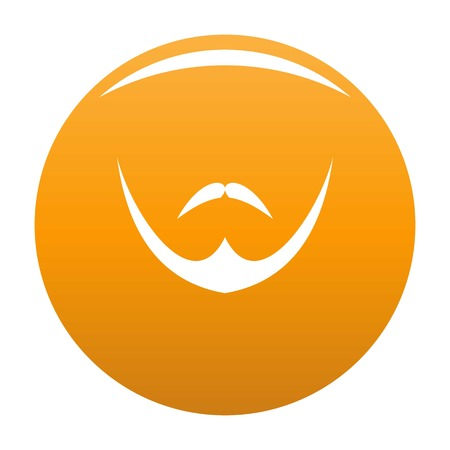 Human face icon. Simple illustration of human face vector icon for any design orange