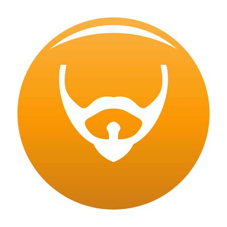 Hair face icon. Simple illustration of hair face icon, simple style.vector icon for any design orange