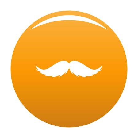 Man mustache icon. Simple illustration of man mustache vector icon for any design orange Illustration