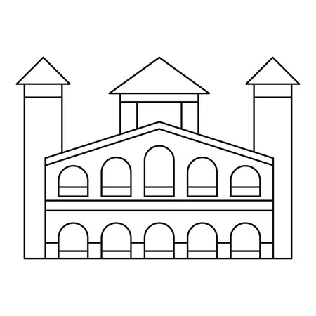 Historical building icon. Outline illustration of historical building vector icon for web design isolated on white background Illusztráció