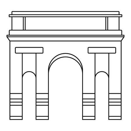 Historical arch icon. Outline illustration of historical arch vector icon for web design isolated on white background