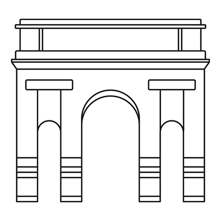 Historical arch icon. Outline illustration of historical arch vector icon for web design isolated on white background  イラスト・ベクター素材