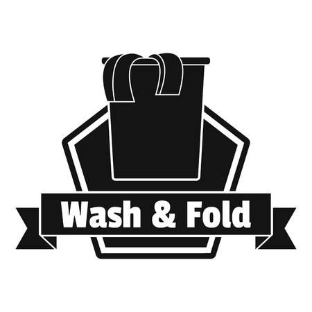 Laundry clothes wash logo. Simple illustration of laundry clothes wash vector logo for web design isolated on white background