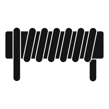 Induction spring coil icon, simple style