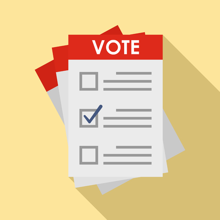 Election paper icon. Flat illustration of election paper vector icon for web design