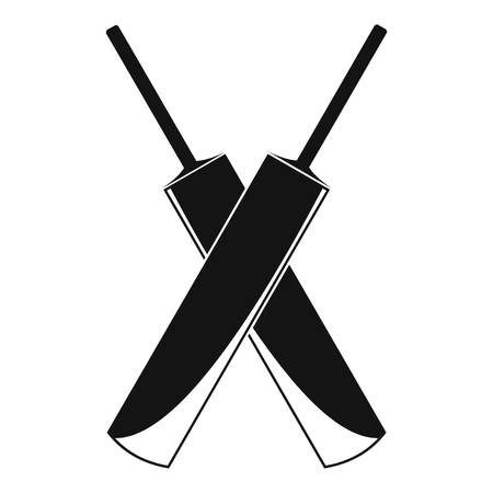 Cricket crossed pad logo, simple style