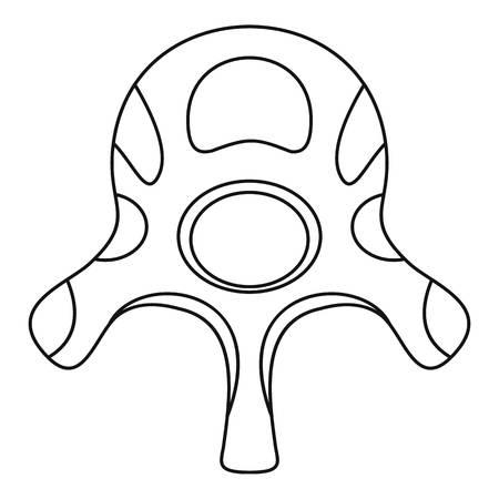 Vertebra disc icon. Outline vertebra disc vector icon for web design isolated on white background 向量圖像