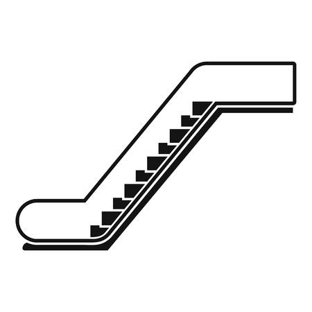 Glass escalator icon. Simple illustration of glass escalator vector icon for web design isolated on white background