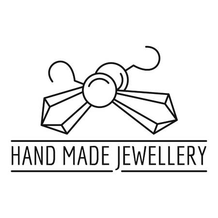 Logotipo de joyería hecha a mano, estilo de contorno Logos