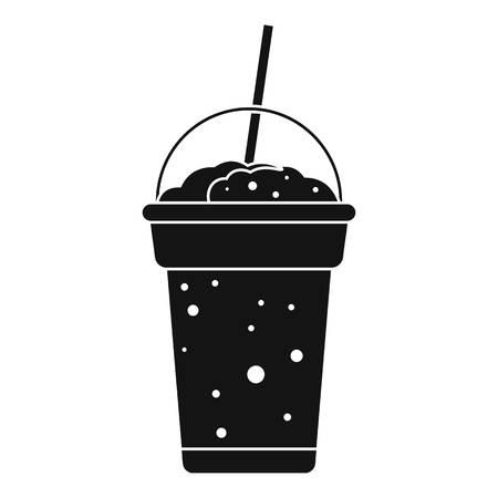 Strawberry smoothie icon. Simple illustration of strawberry smoothie vector icon for web design isolated on white background