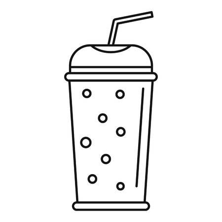 Banana kiwi smoothie icon. Outline banana kiwi smoothie vector icon for web design isolated on white background Ilustrace