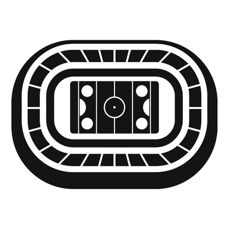 Ice hockey arena icon. Simple illustration of ice hockey arena vector icon for web design isolated on white background 向量圖像