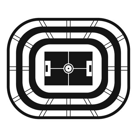 Top view stadium icon. Simple illustration of top view stadium vector icon for web design isolated on white background Stock Illustratie