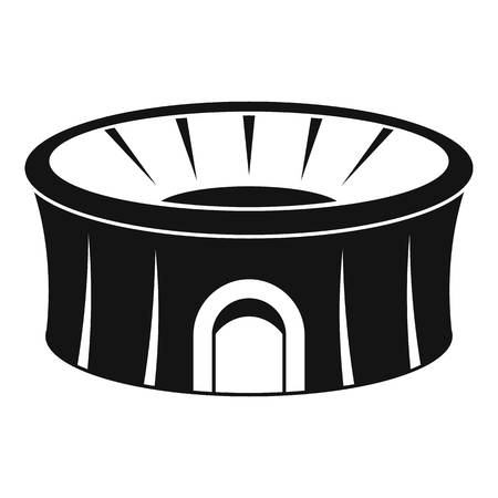 Sport arena icon. Simple illustration of sport arena vector icon for web design isolated on white background