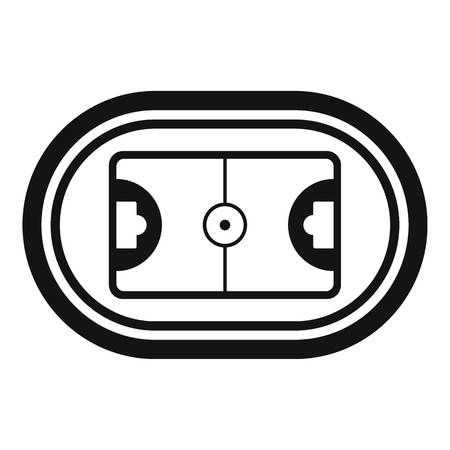 Top hockey field icon. Simple illustration of top hockey field vector icon for web design isolated on white background