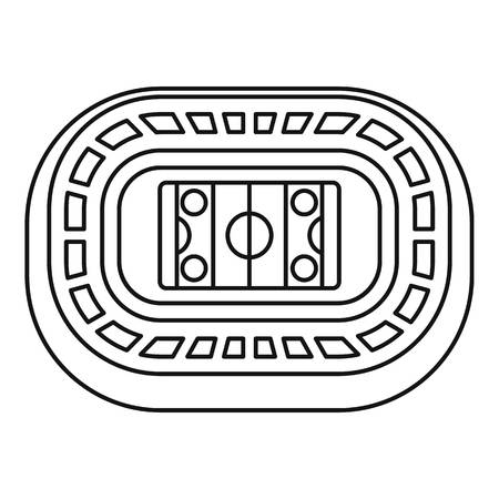 Ice hockey arena icon. Outline ice hockey arena vector icon for web design isolated on white background Illustration