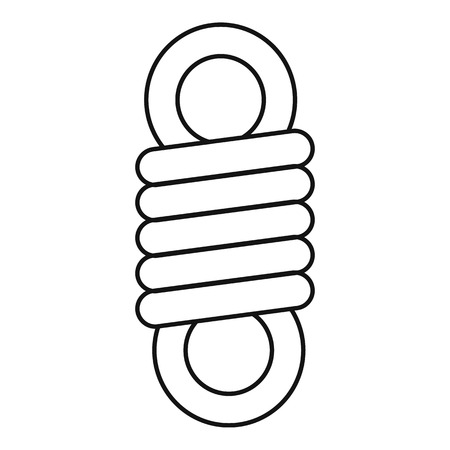 Double spring coil icon. Outline double spring coil vector icon for web design isolated on white background