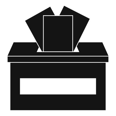 Ballot box icon. Simple illustration of ballot box vector icon for web design isolated on white background