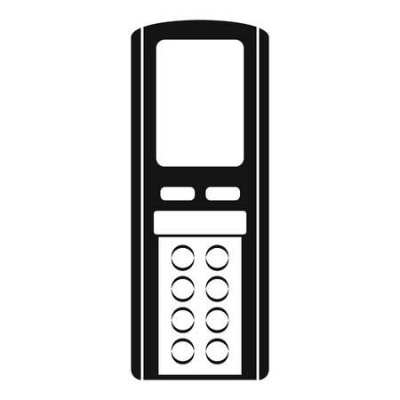 Icône de conditionneur de télécommande. Simple illustration de l'icône vecteur conditionneur de télécommande pour la conception web isolé sur fond blanc Vecteurs