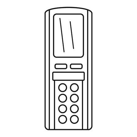 Remote control conditioner icon. Outline remote control conditioner vector icon for web design isolated on white background