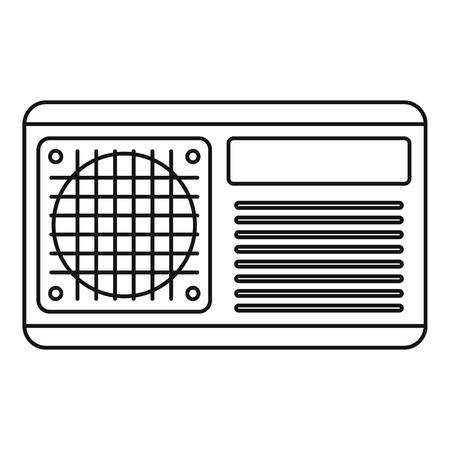 Icône de ventilateur de conditionneur. Contours de l'icône vecteur ventilateur conditionneur pour la conception web isolé sur fond blanc