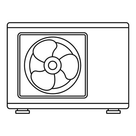 Outdoor conditioner fan icon. Outline outdoor conditioner fan vector icon for web design isolated on white background