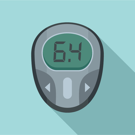 Glucose meter icon, flat style