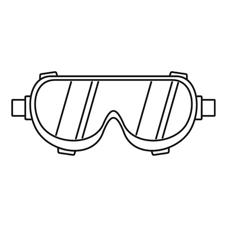 Welding worker glasses icon. Outline welding worker glasses vector icon for web design isolated on white background Vettoriali