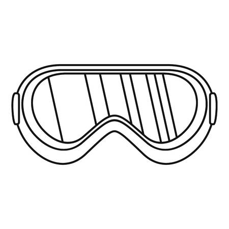 Protect goggles icon. Outline protect goggles vector icon for web design isolated on white background