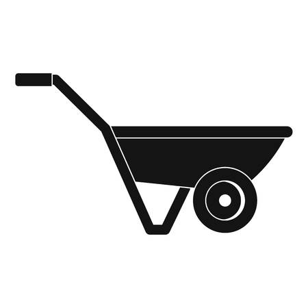 Hand truck one wheel icon. Simple illustration of hand truck one wheel vector icon for web design isolated on white background 일러스트