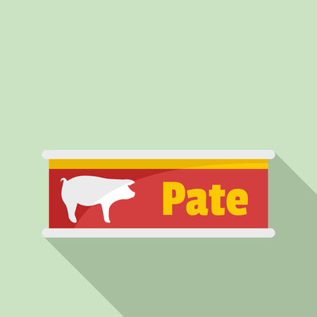 Pate tin can icon. Flat illustration of pate tin can vector icon for web design Ilustracja