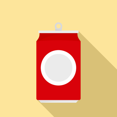 Drink can icon. Flat illustration of drink can vector icon for web design 矢量图像