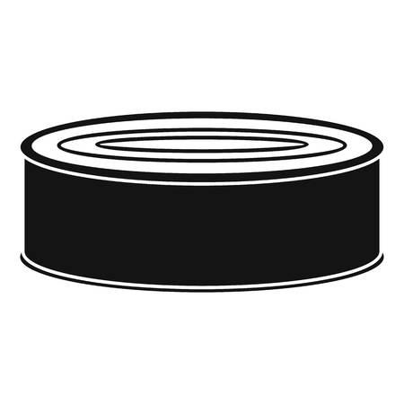 Fish tomato tin can icon. Simple illustration of fish tomato tin can vector icon for web design isolated on white background