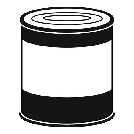 Food tin can icon. Simple illustration of food tin can vector icon for web design isolated on white background
