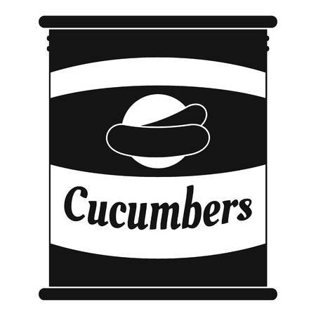 Cucumbers tin can icon. Simple illustration of cucumbers tin can vector icon for web design isolated on white background Çizim