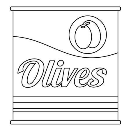 Olives can icon. Outline olives can vector icon for web design isolated on white background