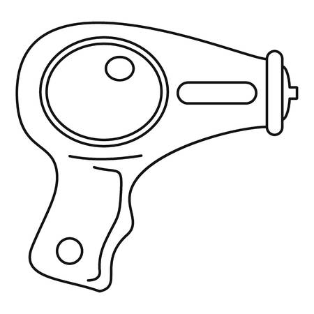 Water pistol icon. Outline water pistol vector icon for web design isolated on white background Stock Illustratie