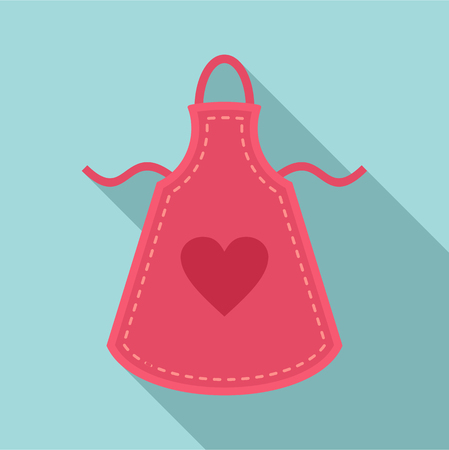 Heart apron icon. Flat illustration of heart apron vector icon for web design