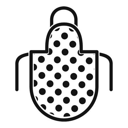 Apron icon. Simple illustration of apron vector icon for web design isolated on white background Illustration