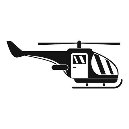 Military helicopter icon, simple style